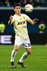 February 21, 2019 - Saint Petersburg, Russia - Elif Elmas of Fenerbahce SK in action during the UEFA Europa League Round of 32 second leg match between FC Zenit Saint Petersburg and Fenerbahce SK on February 21, 2019 at Saint Petersburg Stadium in Saint Petersburg, Russia. (Credit Image: © Mike Kireev/NurPhoto via ZUMA Press)
