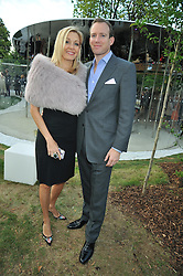 RUPERT ADAMS and his wife NADJA SWAROVSKI at the annual Serpentine Gallery Summer Party sponsored by Canvas TV  the new global arts TV network, held at the Serpentine Gallery, Kensington Gardens, London on 9th July 2009.