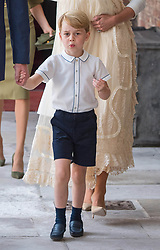 July 9, 2018 - London, London, United Kingdom - Image licensed to i-Images Picture Agency. 09/07/2018. London, United Kingdom. Prince George at the Chapel Royal, St James's Palace, London for the christening of his brother, Prince Louis. (Credit Image: © Pool/i-Images via ZUMA Press)