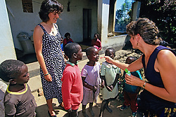 Candyce Bollinger & Jacqueline Points Having Fun With Children