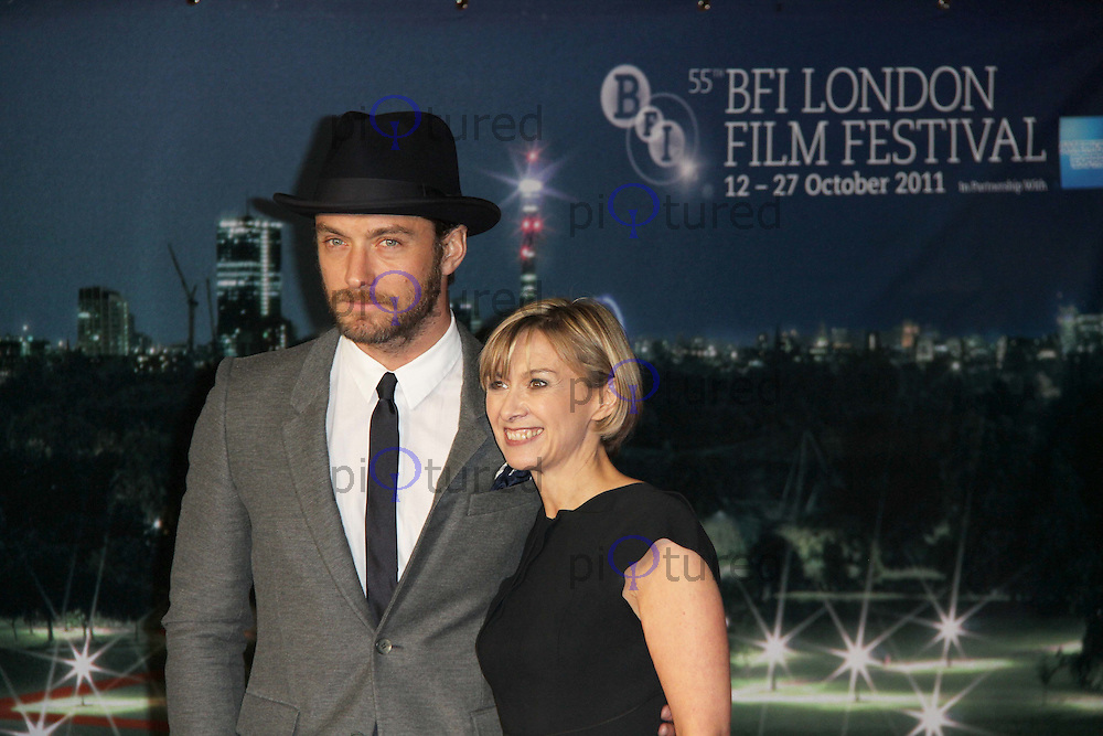 Jude Law; Sandra Hebron 360 European Premiere at the 55th BFI London Film Festival, Odeon Cinema, Leicester Square, London, UK. 12 October 2011. Contact: Rich@Piqtured.com +44(0)7941 079620 (Picture by Richard Goldschmidt)