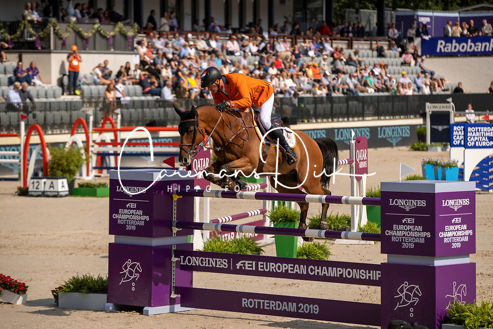 Houtzager Marc, NED, Sterrehofs Calimero<br /> European Championship Jumping<br /> Rotterdam 2019<br /> © Dirk Caremans<br /> Houtzager Marc, NED, Sterrehofs Calimero