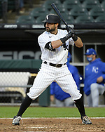 CHICAGO - APRIL 08:  Adam Eaton #12 of the Chicago White Sox bats during the 2021 White Sox home opener against the Kansas City Royals on April 8, 2021 at Guaranteed Rate Field in Chicago, Illinois.  (Photo by Ron Vesely) Subject:  Adam Eaton