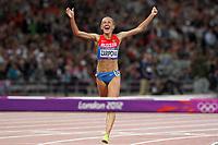 LONDON OLYMPIC GAMES 2012 - OLYMPIC STADIUM , LONDON (ENG) - 06/08/2012 - PHOTO : EDDY LEMAISTRE / KMSP / DPPI<br /> ATHLETICS - WOMEN 3000 M STEEPLE CHASE  - YULIYA ZARIPOVA (RUS)