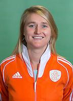 DELFT - Bondscoach Marieke Dijkstra. Nederlands zaalhockeyteam dames voor EK in Minsk. COPYRIGHT KOEN SUYK