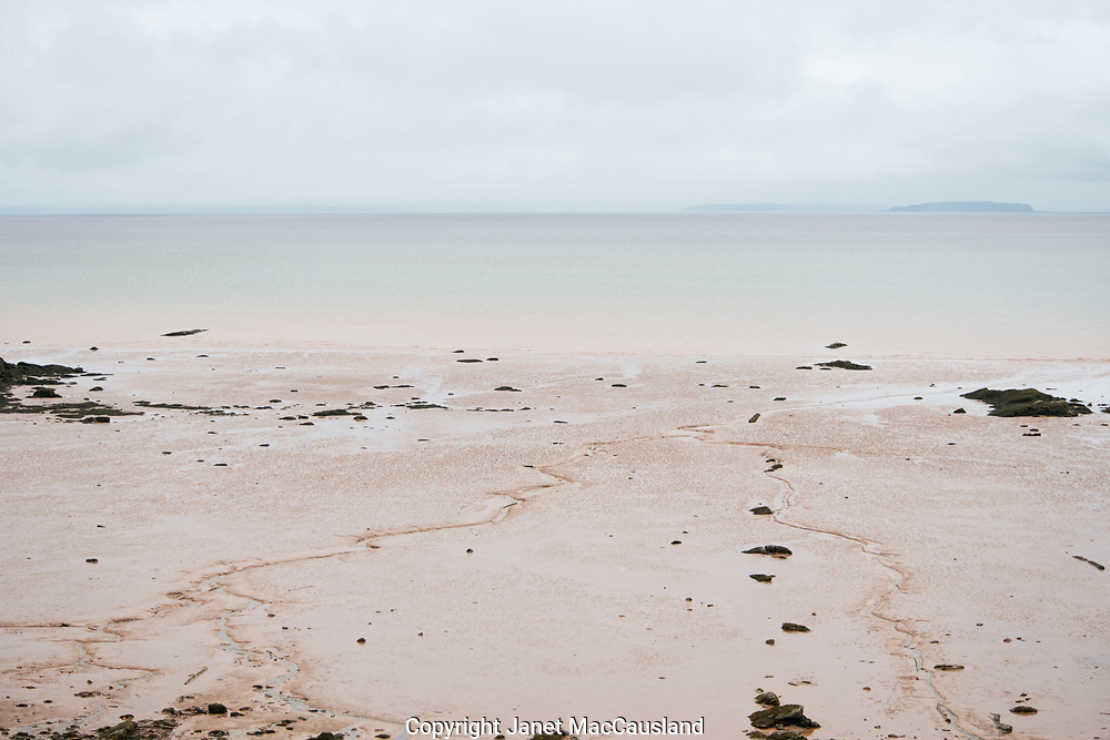 Tide's out in the Bay of Fundy at the UNESCO World Heritage site.