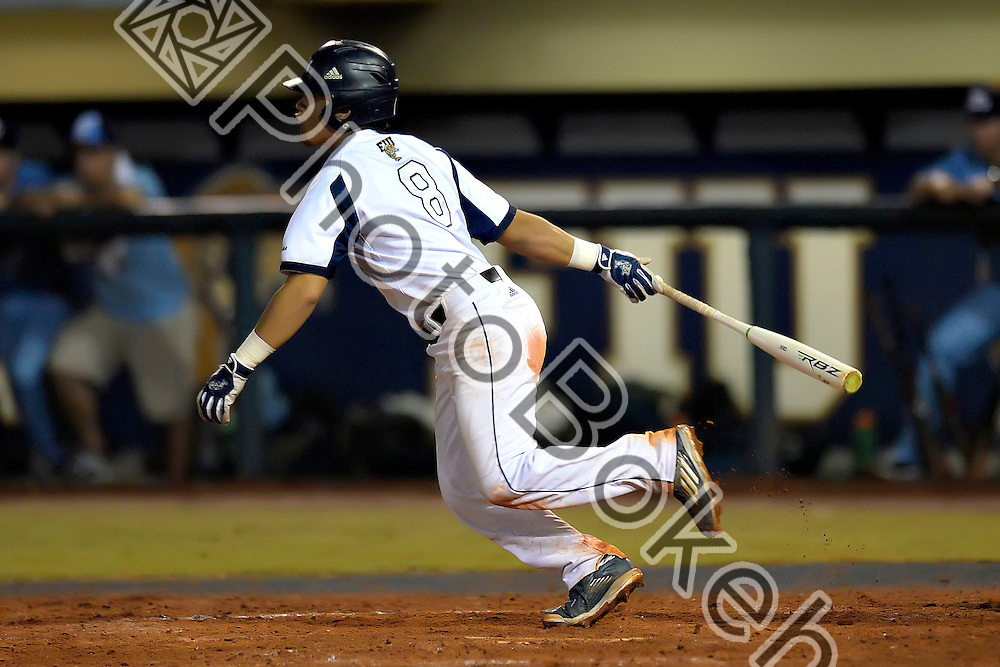 2016 February 23 - FIU's Irving Lopez (8). <br /> Florida International University defeated St. Thomas, 6-1, at FIU Baseball Stadium, Miami, Florida. (Photo by: Alex J. Hernandez / photobokeh.com) This image is copyright by PhotoBokeh.com and may not be reproduced or retransmitted without express written consent of PhotoBokeh.com. ©2016 PhotoBokeh.com - All Rights Reserved