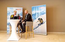 09.03.2017, TVB, Saalbach, AUT, OeSV Ruecktritt Georg Streitberger, im Bild v.l.: OeSV Vizepräsident Michael Walchhofer und Georg Streitberger (AUT) // f.l.: Austrian Skifederation Vice President Michael Walchhofer and Georg Streitberger of Austria during the career end Press conference of Austrian Alpine Ski Athlete Georg Streitberger at the TVB Saalbach, Salzburg on 2017/03/09. EXPA Pictures © 2017, PhotoCredit: EXPA/ JFK