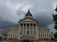 Topeka, Kansas - 24 June 2018 - The Kansas State Capitol, known also as the Kansas Statehouse, is the building housing the executive and legislative branches of government for the U.S. state of Kansas. Located in the city of Topeka, which has served as the capital of Kansas since the territory became a state in 1861, the building is the second to serve as the Kansas Capitol.Picture: Ryan Eyer