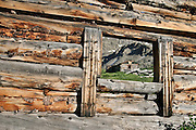 View of historic alpine mining structures, Boston Mine, Mayflower Gulch, Colorado