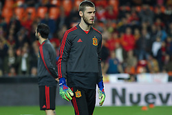 March 23, 2019 - Valencia, Valencia, Spain - De Gea of Spain in action during European Qualifiers championship, , football match between Spain and Norway, March 23th, in Mestalla Stadium in Valencia, Spain. (Credit Image: © AFP7 via ZUMA Wire)