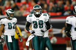Philadelphia Eagles safety Quintin Demps #39 during the NFL game between the Philadelphia Eagles and the Atlanta Falcons on December 6th 2009. The Eagles won 34-7 at The Georgia Dome in Atlanta, Georgia. (Photo By Brian Garfinkel)