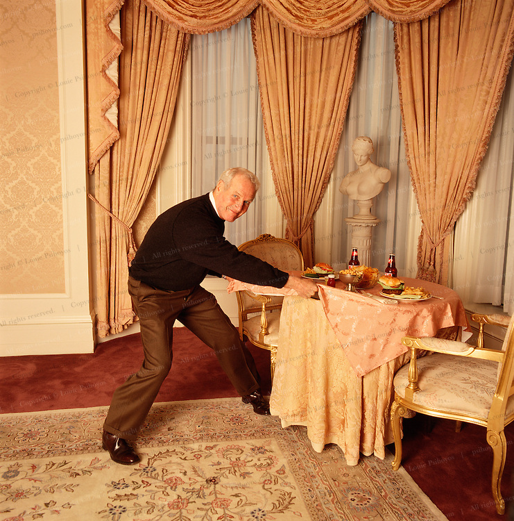 Paul Newman at the Plaza Suite at the Plaza Hotel, New York City.  (1 of 4)