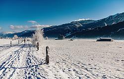 THEMENBILD - verschneite Winterlandschaft zwischen Kaprun und Piesendorf, aufgenommen am 28. Dezember 2019, Kaprun, Österreich // Winterlandscape between Kaprun and Piesendorf on 2019/12/28, Kaprun, Austria. EXPA Pictures © 2019, PhotoCredit: EXPA/ Stefanie Oberhauser