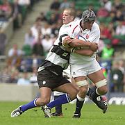 Twickenham. England. RFU Stadium, Surrey. <br /> Photo Peter Spurrier25/05/2003<br /> 2003 - Rugby - England v Barbarians.<br /> Alex Brown         [Mandatory Credit: Peter SPURRIER/Intersport Images]
