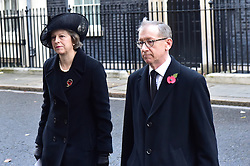 Prime Minister Theresa May and Philip John May beim Remembrance Sunday in London / 131116 *** Remembrance Sunday, London, 13 Nov 2016 ***