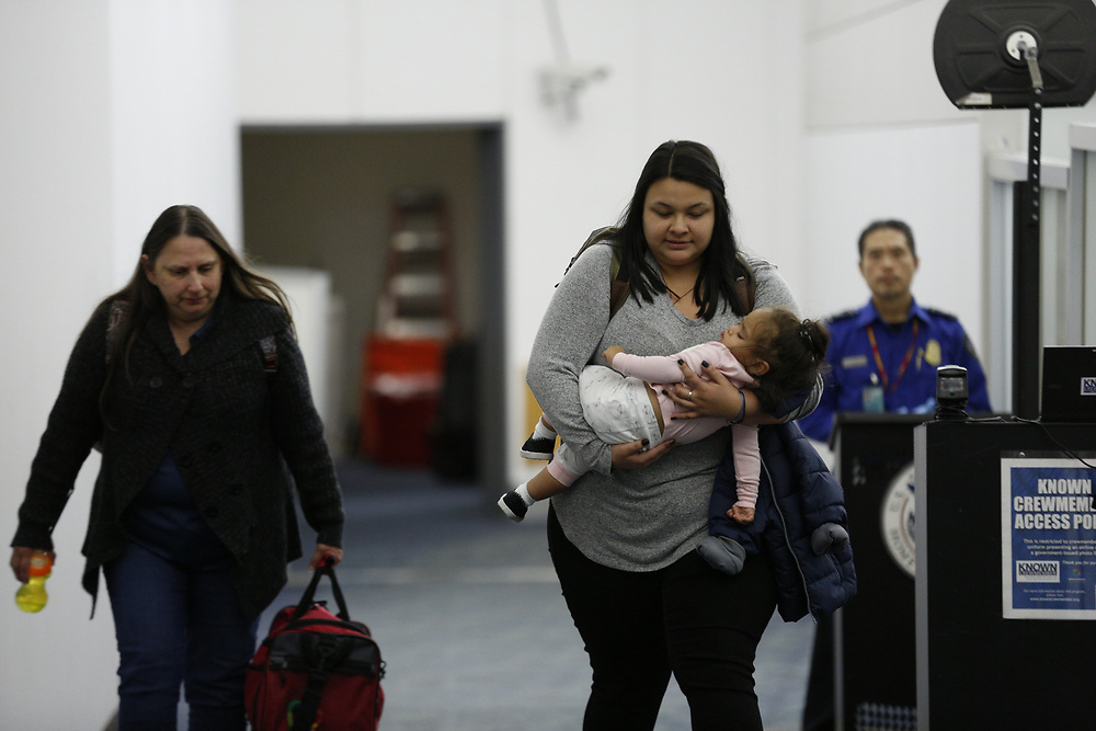 on Tuesday, Jan. 29, 2019, in San Francisco, Calif. The Honduran mother is pursuing her asylum claim in San Francisco. Her one-year-old daughter Juliet was held at a Texas shelter for a month, when she was separated from her father attempting to cross the U.S.-Mexico border.