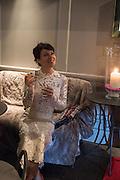 HELEN MCCRORY, Nicky Haslam hosts dinner at  Gigi's for Leslie Caron. 22 Woodstock St. London. W1C 2AR. 25 March 2015