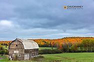Weathered barn in autumn pastures near Bruce Crossing in in the Upper Peninsula of Michigan, USA