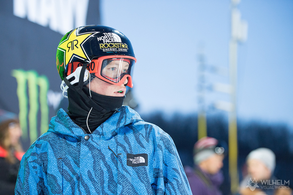 Mike Riddle during Ski Superpipe Practice during 2015 X Games Aspen at Buttermilk Mountain in Aspen, CO. ©Brett Wilhelm/ESPN