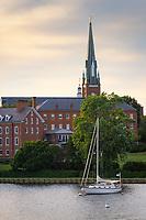St. Mary's Catholic Church and Spa Creek, Annapolis, Maryland.