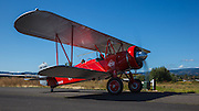 A 1927 Stearman C3-B taxis into the 2013 Hood River Fly In at WAAAM.