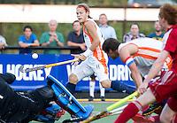 DEN BOSCH -  Milan van Baal tijdens de wedstrijd tussen de mannen van Jong Oranje  en Jong Engeland, tijdens het Europees Kampioenschap Hockey -21. ANP KOEN SUYK