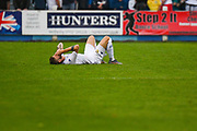 Leeds United Mateusz Klich (6) down injured during the Pre-Season Friendly match between Tadcaster Albion and Leeds United at i2i Stadium, Tadcaster, United Kingdom on 17 July 2019.