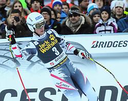 21.12.2013, Saslong, Groeden, ITA, FIS Ski Weltcup, Groeden, Abfahrt, Herren, im Bild Florian Scheiber (AUT) // Florian Scheiber of Austria reacts in the finish Area during mens Downhill of the Groeden FIS Ski Alpine World Cup at the Saslong Course in Gardena, Italy on 2012/12/21. EXPA Pictures © 2013, PhotoCredit: EXPA/ Erich Spiess