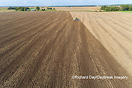 63801-11812 Tilling field after soybean harvest-aerial Marion Co.  IL