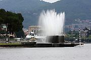 Italy, Lombardy, Lake Como fountain