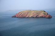 Gateholm Island with distant Skokholm Island, Pembrokeshire national park, Wales
