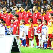 Galatasaray's Team during their Turkish Super League soccer match Galatasaray between Akhisar Belediyespor at the TT Arena at Seyrantepe in Istanbul Turkey on Sunday 23 September 2012. Photo by TURKPIX