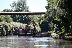 UK ENGLAND LEICESTER 30JUN15 - Dredging the Grand Union canal near the river Soar at Leicester city.<br /> <br /> jre/Photo by Jiri Rezac / WWF UK<br /> <br /> © Jiri Rezac 2015