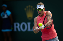 March 7, 2019 - Indian Wells, USA - Samantha Stosur of Australia in action during the first round of the 2019 BNP Paribas Open WTA Premier Mandatory tennis tournament (Credit Image: © AFP7 via ZUMA Wire)