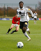 Fotball<br /> Privatkamp<br /> Manchester United Reserves v Rosenborg<br /> 23.11.2008<br /> Foto: Richard Lane Photography/Digitalsport<br /> NORWAY ONLY<br /> <br /> Alexander Tettey on the move