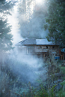 Scenic image of Breitenbush Hot Springs. Breitenbush Resort sits on the west side of the Cascade Mountain range in Central Oregon.
