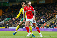 Norwich City midfielder Josh Murphy (11) shoots at goal scores during the EFL Sky Bet Championship match between Norwich City and Barnsley at Carrow Road, Norwich, England on 18 November 2017. Photo by Phil Chaplin.