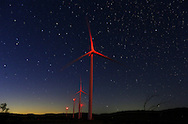 Wind turbines on display in the Imperial Valley town of Ocotillo, California on Sunday, November 29, 2015.(Photo by Sandy Huffaker for The New York Times)