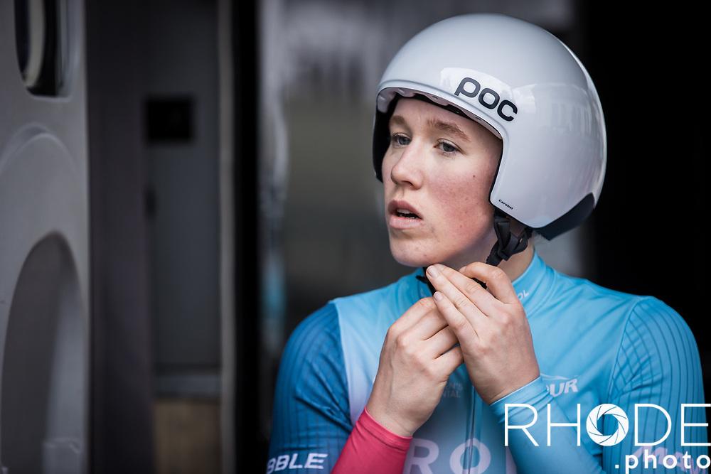 Marjolein van't Geloof (NED/Drops Le Col) pre race<br /> <br /> <br /> Ceratizit Festival Elsy Jacobs (LUX) 2021<br /> UCI Women Elite 2.1<br /> Day 1 - prologue : Individual Time Trial (ITT) – Cessange (LUX) 2.2km <br /> <br /> ©RhodePhoto