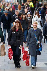 © Licensed to London News Pictures. 08/12/2014. LONDON, UK. People shopping on Oxford Street in London on the second Monday in December, which is also dubbed Manic Monday as it is predicted to be the busiest shopping day of the year on Monday, 08 December 2014. Photo credit : Tolga Akmen/LNP