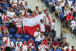 June 28, 2018 - Wolgograd, Russia - Polish fans during the 2018 FIFA World Cup Russia group H match between Japan and Poland at Volgograd Arena on June 28, 2018 in Volgograd, Russia. (Credit Image: © Foto Olimpik/NurPhoto via ZUMA Press)
