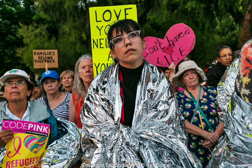 Lights For Liberty Vigil in Westchester, CA.