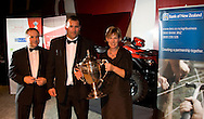 Kristen and Dean Nikora, are repsented with a Suzuki Quad Bike. Winners of the Ahuwhenua Trophy - Bank of New Zealand Maori Excellence in Farming Award ceremony held at the Rotorua Event Centre, Rotorua, New Zealand, June 06 2008.<br /> <br /> MANDATORY CREDIT ©ALPHAPIX/John Cowpland.<br /> <br /> www.alphapix.co.nz<br /> info@alphapix.co.nz<br /> phone: 0272 533464