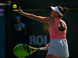 March 8, 2019 - Indian Wells, USA - Jennifer Brady of the United States in action during her second-round match at the 2019 BNP Paribas Open WTA Premier Mandatory tennis tournament (Credit Image: © AFP7 via ZUMA Wire)