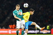 Philippe Coutinho (Brazil) and Joshua Kimmich (Germany) during the International Friendly Game football match between Germany and Brazil on march 27, 2018 at Olympic stadium in Berlin, Germany - Photo Laurent Lairys / ProSportsImages / DPPI