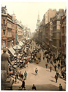 Stunning Old photochrome prints turn back the clock in London <br /><br />colourised postcards from the Victorian era,  postcards were made using photochrom - a method of producing colourised photos from negatives<br /><br />Photo shows: Cheapside London, England, between 1890 and 1900<br />©Library of Congress/Exclusivepix Media