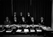 17/2/1966<br /> 2/17/1966<br /> 17 February 1966 Business. Businessmen, Dublin, Finance, Industrial Credit Company, Ireland, Irish, Irish Photos, Meeting, News Photos, Office, T.K. Whitaker,<br /> <br /> The Thirty-third annual general meeting of the Industrial Credit Company who was held at the office of the company (26 Merrion Square Dublin) <br /> <br /> Photographed before the meeting were the Directors and Dr. T.K. Whitaker, Secretary, Department of Finance(L-R Fr.) Mr. J.J. O'Leary, Dr. T.K. Whitaker, Dr. J.P. Beddy Chairman, Dr. M. W. O'Reilly, Mr. S.F. Thompson (L-R Br.) Mr. P.M. Donald, Dr. C.K. Mill and Mr P. Hughes