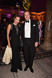 Prince & Princess Valerio Massimo at The Sugarplum Dinner 2017 to benefit the type 1 diabetes charity JDRF held at the Victoria & Albert Museum, Cromwell Road, London England. 14 November 2017.<br /> Photo by Dominic O'Neill/SilverHub 0203 174 1069 sales@silverhubmedia.com