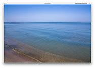 Lake Erie on a gorgeous day at Vermilion Ohio, USA